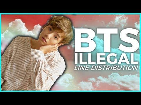 BTS - Dimple/Illegal | Line Distribution