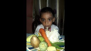 See how the little kid ate the raw vegetables!! Eating show bangla,