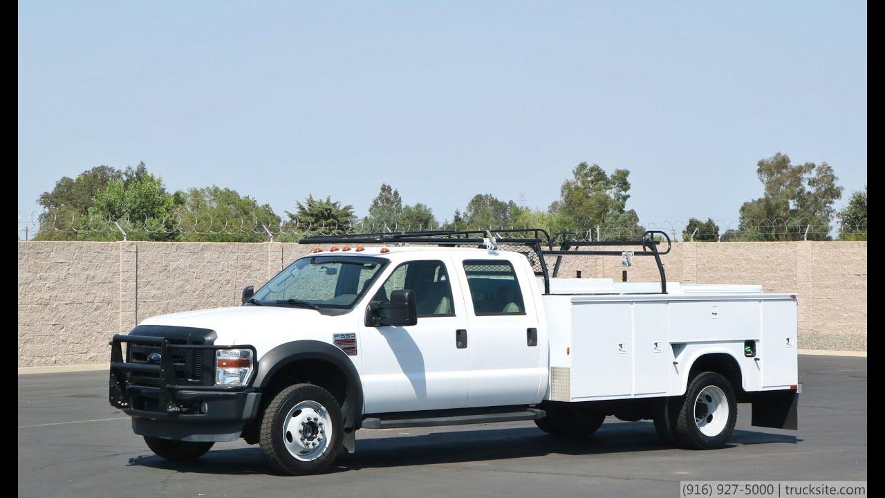 2008 ford f550 4x4 crew cab service truck