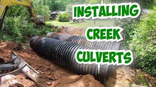 Installing BIG Culvert Pipes In A Creek-2020
