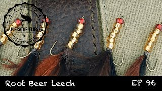 Fly Tying the Root Beer Leech Stillwater Trout Fly Pattern - Ep 96 PF