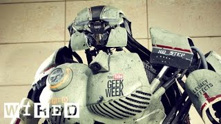 How to Make Parts for a Giant Mech Robot (4/7) - YouTube Geek Week - WIRED
