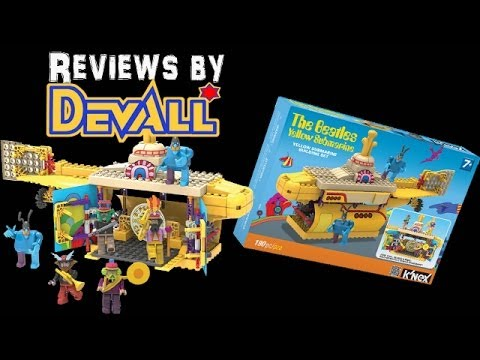 K'NEX Toys R Us Exclusive Beatles Yellow Submarine Set REVIEW