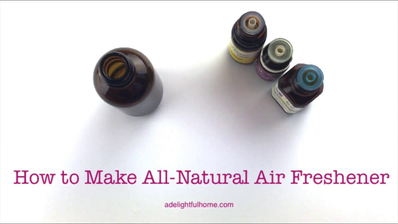 DIY Air Freshener (with Essential Oils) - YouTube