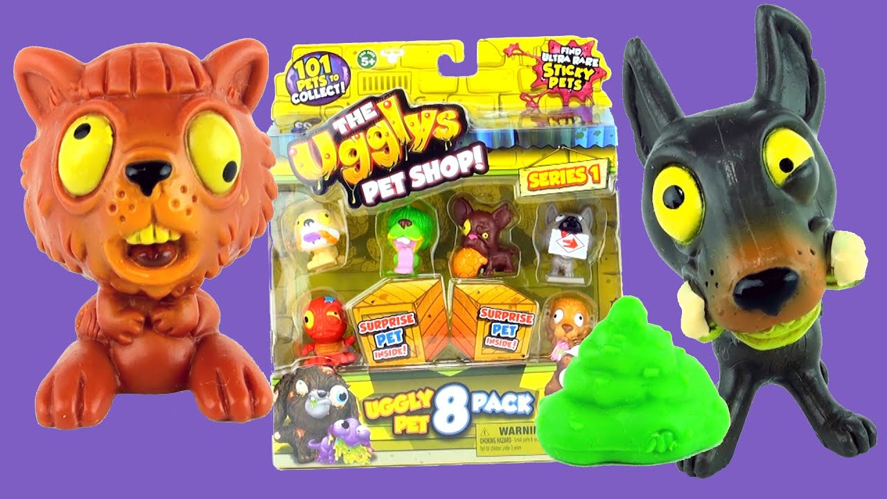Moose Toys The Ugglys Pet Shop 8 Pack With Surprise Ugly Pets Inside Series 1