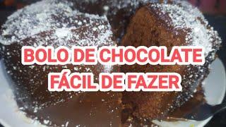 BOLO DE CHOCOLATE FÁCIL DE FAZER