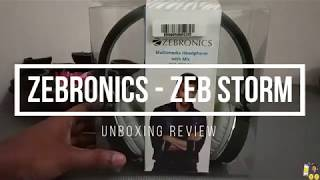Zebronics Storm Headphone with Mic - Unboxing amp Review