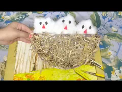 How to make Wall Hanging Nest Craft | DIY Quick Crafts | Summer Vacation 2018 | SWEET SISTERS