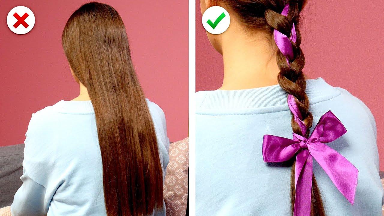 GIRLY HAIRSTYLES! 🤩  9 Trucos de cabello DIY inteligentes