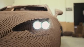 The world's first drivable cardboard car created by Lexus