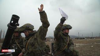 Արցախում ռուս խաղաղապահները կրակային պատրաստություն են անցնում
