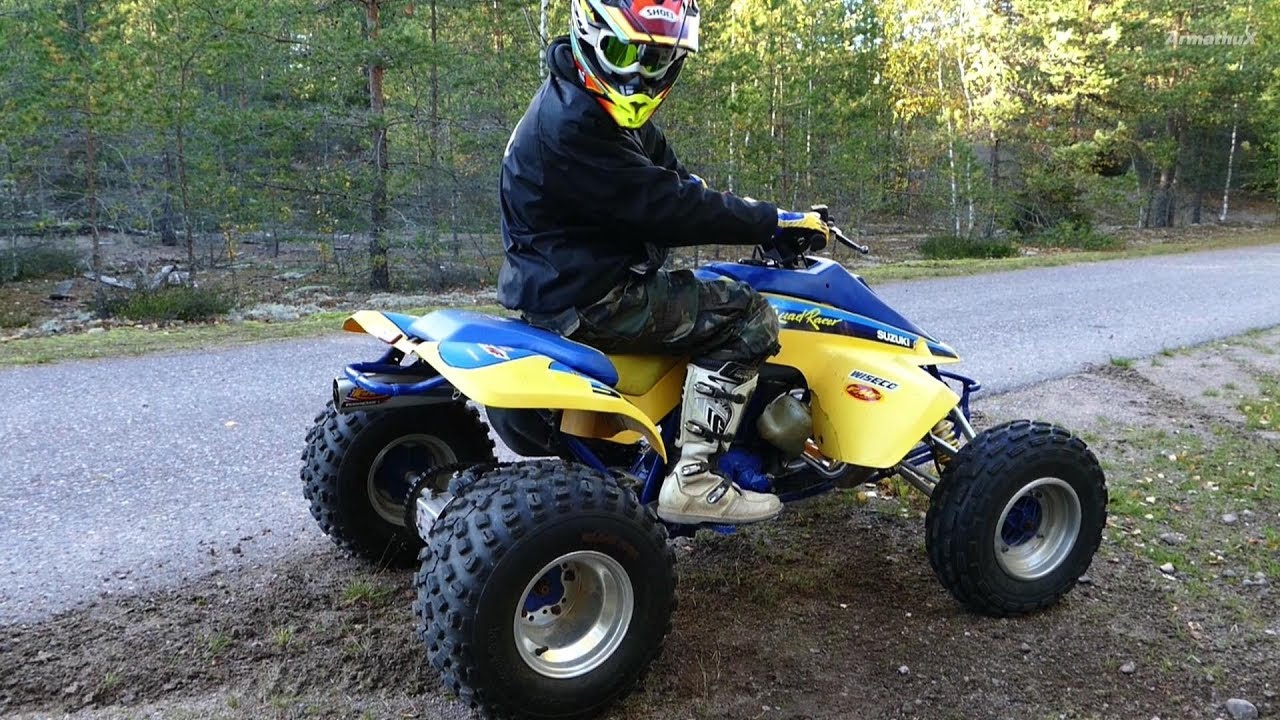medium resolution of suzuki quadzilla 500 87 two stroke raw sound