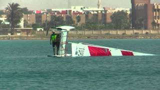 catamaran topcat k1 capsizing and lifting
