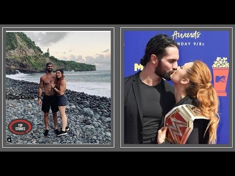 WWE's Seth Rollins and Becky Lynch engaged after six months together: 'Happiest day of my life'