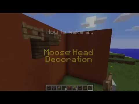 Minecraft How To Make A Moose Head Decoration Youtube