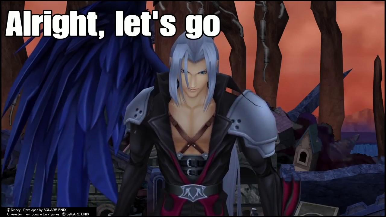 Sephiroth Death Montage Level 1 Critical Mode Kingdom Hearts 2 Final Mix