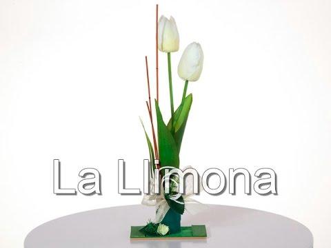 Arreglos Florales Arreglo Floral Tulipanes Artificiales Crema 31 La Llimona