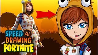 Onesie Dibujando peau de Fortnite Battle Royale - Speed Drawing