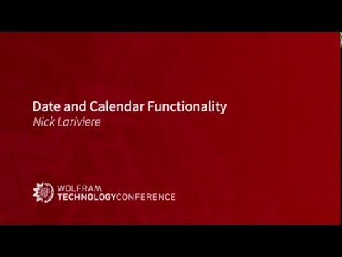 Date and Calendar Functionality