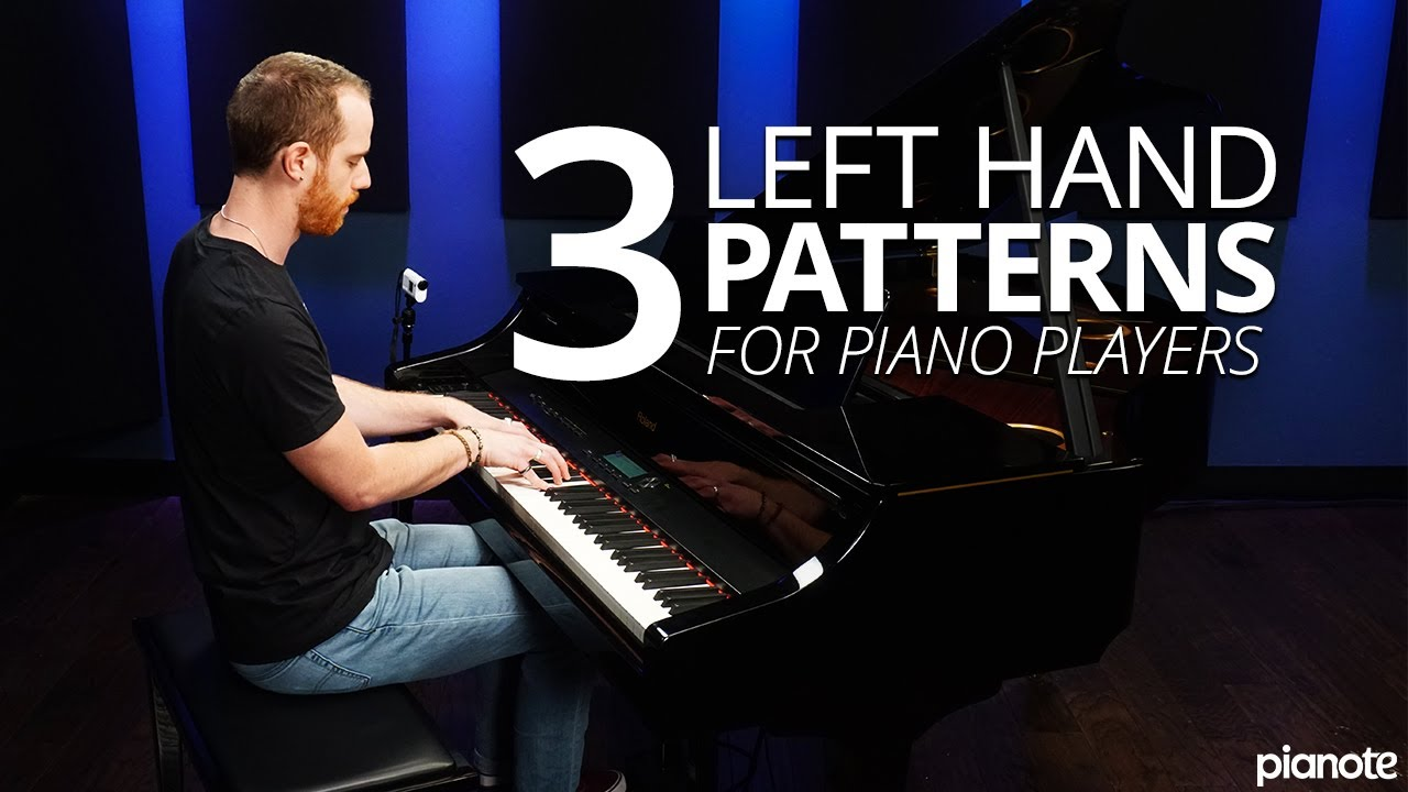 3 left handed patterns for beginner piano players pianote youtube. Black Bedroom Furniture Sets. Home Design Ideas