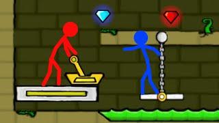 Watergirl and Fireboy , Stickman Animation