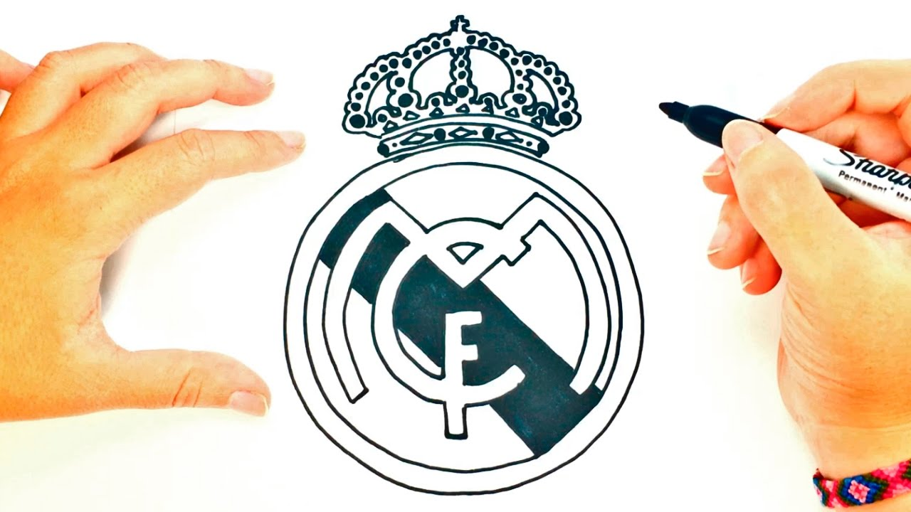Gut bekannt How to draw a Real Madrid Logo | Real Madrid Shield Draw Tutorial  HR63