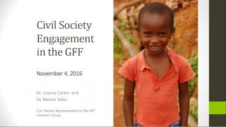 Global Financing Facility (GFF) November Investors Group (IG) Meeting Debrief