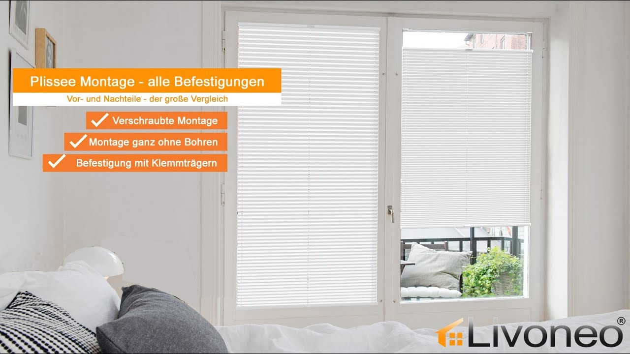 plissee montage welche befestigung ist perfekt f r meine fenster youtube. Black Bedroom Furniture Sets. Home Design Ideas