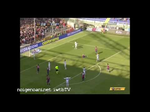 Genoa 5 Cagliari 3 (dessena,Zapater,Palacio,Conti,Sculli,Rossi,matri,Milanetto) 14/03/2010