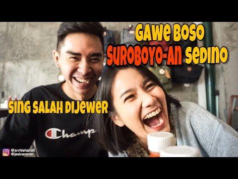 VLOG | Ngomong Pake Bahasa Surabaya Seharian | Arvhie & Jesi