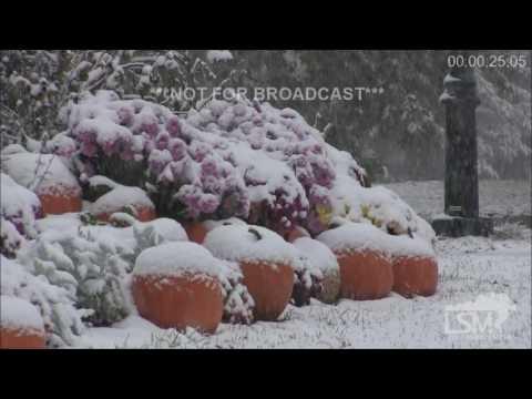 10-27-16 Saratoga Springs, NY Heavy Snow