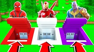 DO NOT CHOOSE THE WRONG SECRET BASE! (Spiderman, Iron Man, Thanos)