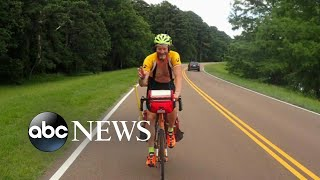 A father cycled 1,400 miles for a cause