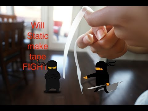 Science Experiment Time | Magnetic Fields create a Static tape battle!