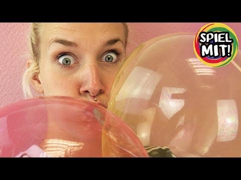 RIESIGE GLIBBER BLASEN AUFPUSTEN Luftballon selber machen | Super Elastic Bubble Magic Plastic
