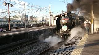 D51-498(赤プレ)牽引 SLレトロみなかみ新前橋発車