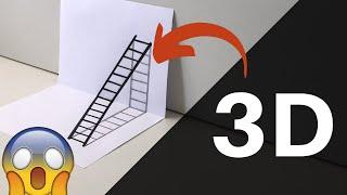 Como Desenhar Escada Em Ilusão 3d Vaca