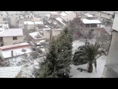 LamiaReport.gr-Χιονι στη Λαμια 01-02-12 2