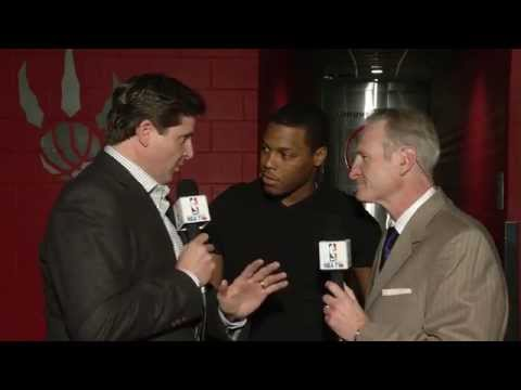 Matt Devlin and Jack Armstrong with Kyle Lowry