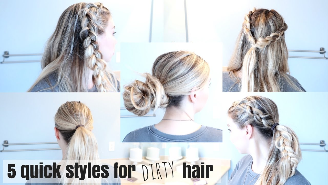 5 fast hairstyles for unwashed hair | great for busy moms | nesting story