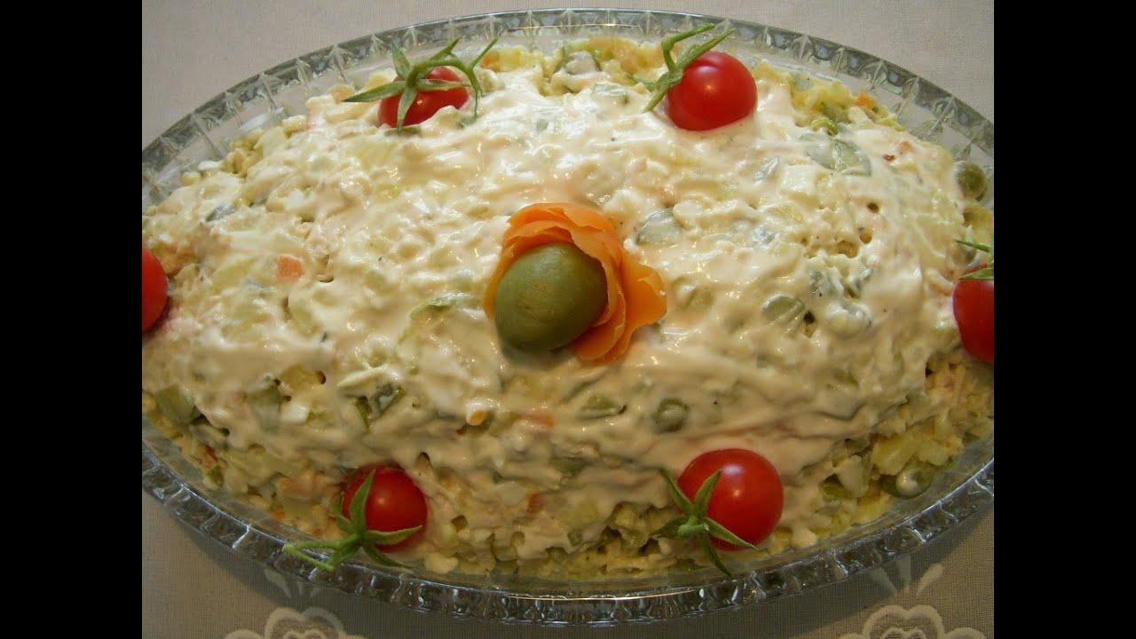 سالاد الویه Olivier Salad | Salad Olovieh - YouTube
