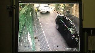 神戸の発砲事件の現場近くに設置された防犯カメラの映像 射殺された男性はボディーガード役か