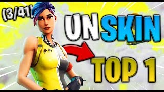 A SKIN - A TOP 1 (3/41) SOLO GAMEPLAY FORTNITE (10 KILLS)