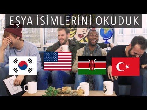 4 DİLDEN FARKLI EŞYA İSİMLERİ | 3 Yabancı 1 Türk #6
