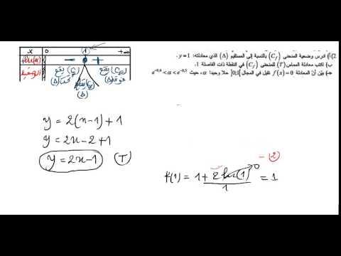 حل مسألة الموضوع 1 في الرياضيات باك 2014 شعبة العلوم التجريبية
