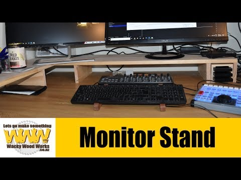 Simple Monitor Stand & desk tidy - Off the Cuff - Wacky Wood Works.