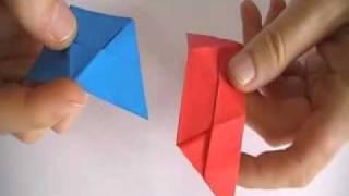 Tetraedro con dos módulos triangulares