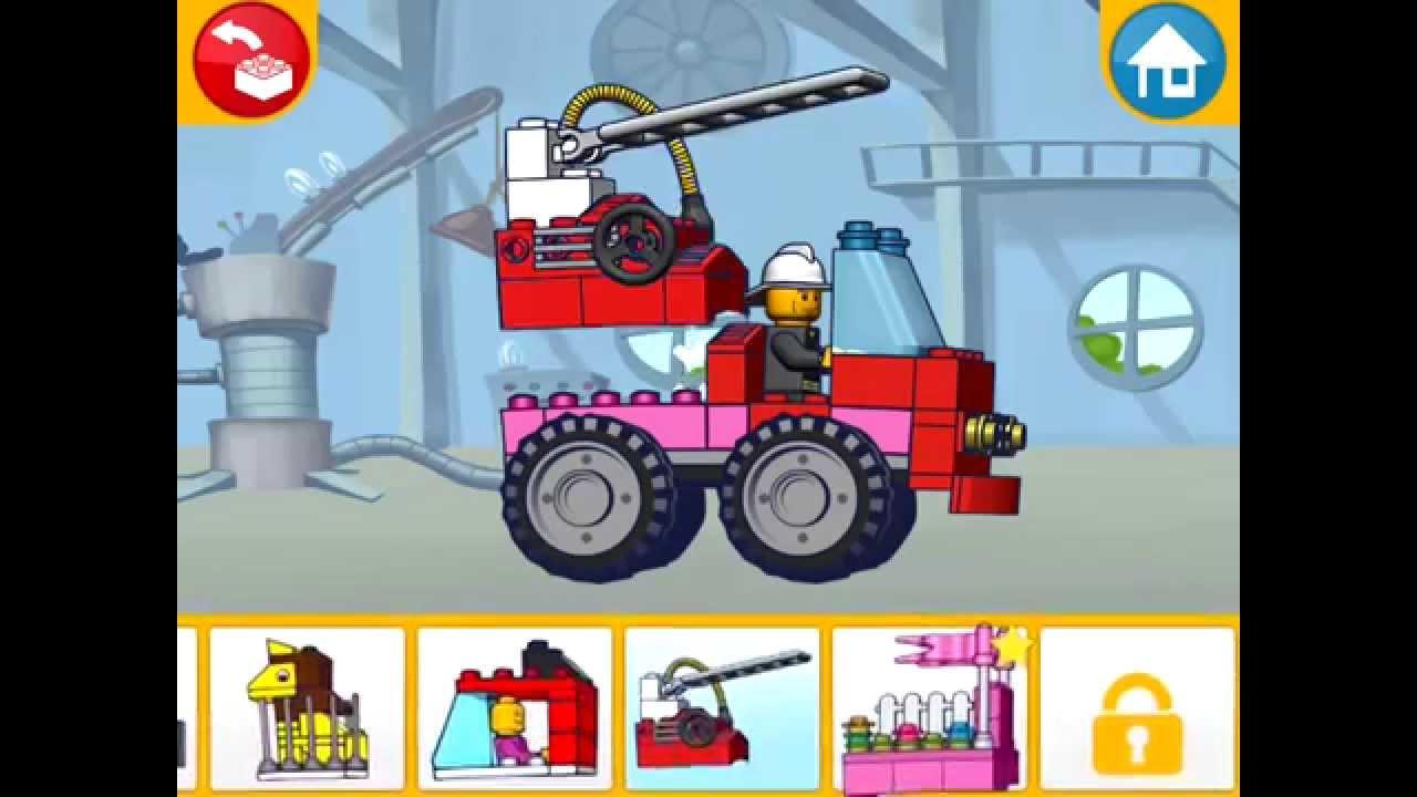 Lego Juniors! Лего Игры! ПОЖАРНЫЕ МАШИНЫ! Серия 21! Лего ...