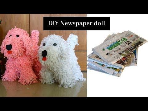 #NewsPaperCraft #papercrafts #handcraft Newspaper Puppy Showpiece  | Handicraft | Aloha Crafts