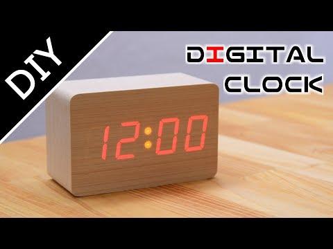 木のデジタル時計を作る:Making of  Wood Digital Clock